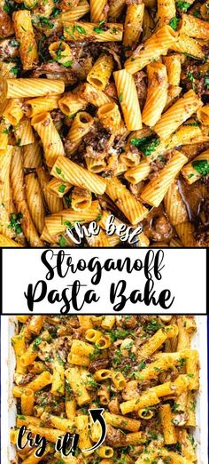 This pasta bake recipe is a great way to use up leftover roast beef! A slimming-friendly Stroganoff pasta bake that's sure to become a family favourite. Replace the roast beef with ground beef, or leftover roast chicken.