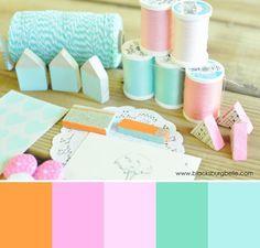 pastel colors |