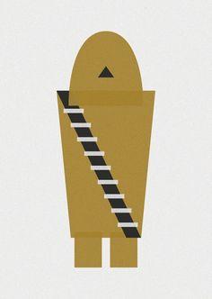 Representación minimalista de personajes de ficción - Rincón Abstracto
