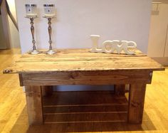 Handmade Coffee Table From Old Wooden by MalletsandPallets on Etsy