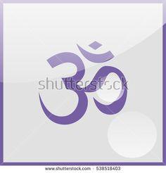Om / Aum - symbol of Hinduism flat icon.