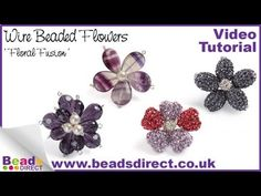 http://www.beadsdirect.co.uk/beading-wire/wire-coated-copper/ This simple technique with wire is used to create multiple bead flowers to make up the Floral Fusion necklace on the cover of the Beads Direct spring summer 12 catalogue. You can use this technique to make your own necklace, bracelet or even a brooch. If you don't want to make jewelle...