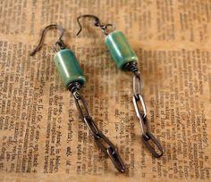 Industrial Shore Earrings by CraftyHope, via Etsy.