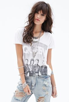 Queen Graphic Tee #F21StatementPiece I bet you half the people who shop at Forever 21 don't even know who Queen was