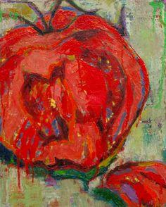 "Saatchi Online Artist Margaret Zox Brown; Painting, ""Cut Tomato"" #art"
