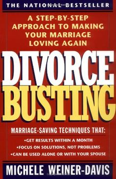 Divorce Busting: A Step-by-Step Approach to Making Your Marriage Loving Again by Michele Weiner-Davis http://www.amazon.com/dp/0671797255/ref=cm_sw_r_pi_dp_UC2bvb1GT7V8V