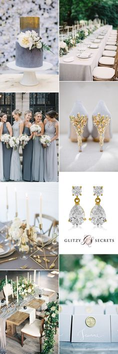 luxurious grey and gold wedding ideas