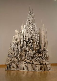 Cardboard Castle Watts Tower city paper island inspiration