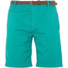 Shorts mit Gürtel - Knallige Shorts in Türkis von s.Oliver. Diese Shorts sticht durch die leuchtende Farbe heraus. - ab 39,95€