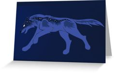 Night Wolf Cards #wolves #wolf #animals #abstract #stars