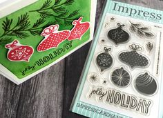 Love our new Jolly Holiday clear stamp set!