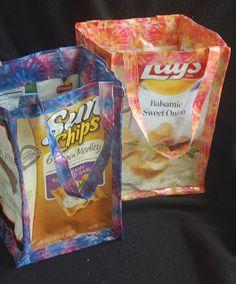 Lynn's Craft Blog: Recycled Chip Bag Tote