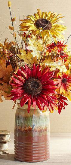 Faux Sunflowers
