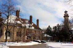Evanston Art Center and Grosse Point Lighthouse. Evanston, IL
