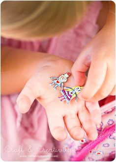 Shrink kids' artwork and make a pendant - by Craft & Creativity