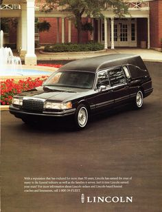 39 best car advertisements lincoln continental hearse images car rh pinterest com