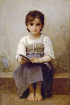 The Hard Lesson — William-Adolphe Bouguereau