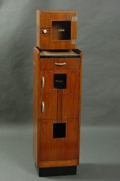 CIRCA 1935 ART DECO BARBER'S CABINET