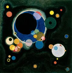 "Wassily Kandinsky (Russian: 1866–1944), Sketch for ""Several Circles,"" 1926. New Orleans Museum of Art"