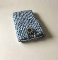 Crochet I phone 6 plus pouch I phone 6 plus by KnitandLoomstudio