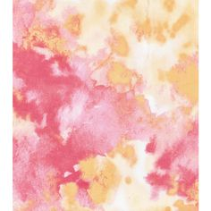 Keepsake Calico Cotton Fabric-In The Garden Pink Orange Watercolor (24.440 COP) ❤ liked on Polyvore featuring backgrounds