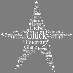 Stempel, Stern - Liebe - Glück - Glanz - Feiertage - Licht, etc.., 7x7 cm « Motivstempel Weihnachten,