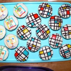 Picaso and Piet Mondrian cupcakes for our art night at my children's school
