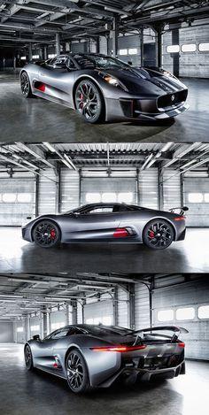Jaguar C-X75 Hybrid Sport #Car.