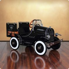 Deluxe Police Pick Up Roadster Pedal Car for Kids from www.wellappointedhouse.com #baby #kids #toys