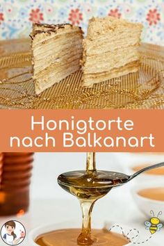 This treat is a hit in Bosnian bakeries - the Russian honey . Russian Honey Cake, Russian Cakes, Russian Pastries, Russian Dishes, Tea Cakes, Unique Recipes, Sweet Recipes, Famous Drinks, Torte Recepti