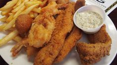Fried Butterflied Shrimp with Cheddar Goldfish Crust