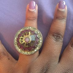 Antique Style  Purple and bronze antique style ring! One of my personal favs  sz 7 Jewelry Rings