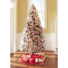 Holiday Time Pre-Lit 7.5' Winter Frost Artificial Christmas Tree, Clear Lights
