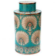 turquoise tea box