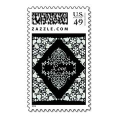 "Lacy Monogram ""Love"" Postage Stamp"