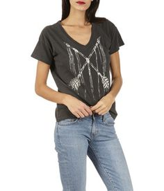 E-shop Tee-shirt En Coton Sérigraphié Noir Denim And Supply By Ralph Lauren 38f749c48d37