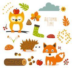 cute-animal-autumn-clipart-fptfy-1.png 4,551×4,318 pixels