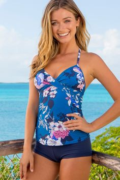 c4aa6761be Ventana Twist Tankini | HAPARI Foam Cups, Tankini Top, Bikini Bottoms,  Bikini Tops
