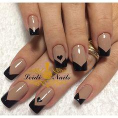 Nails design valentines french 35 New ideas Diy Nails, Cute Nails, Pretty Nails, Valentine Nail Art, Best Acrylic Nails, Nail Art Hacks, Stylish Nails, French Nails, French Manicures