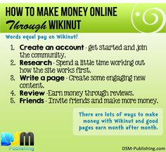 How to Make Money Online through #wikinut #makemoneyonline