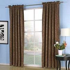 Embossed Pray Blackout Thermal Curtain  #curtains #decor #homedecor #homeinterior #brown