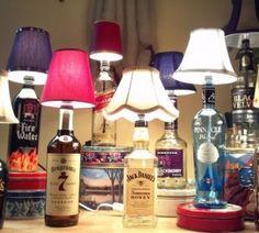 lampade con bottiglie