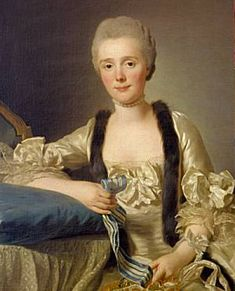 Margaretha Bachofen-Heitz, wife of the Basle Ribbon merchant,  by Alexander Roslin 1766, Museum.BL,