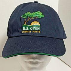 USGA Member Men Baseball Cap 2008 US Open TORREY PINES Golf Navy Adjustable  Hat  3a174dd3c01f