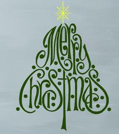 Merry Christmas Tree Wall Decal Sticker Home Decor DIY #GoodMorningAfternoon only $5