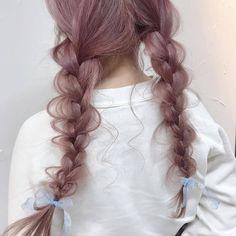 Pretty Hairstyles, Hat Hairstyles, Japanese Hairstyle, Dye My Hair, Aesthetic Hair, Doll Hair, Hair Art, Hair Looks, Her Hair