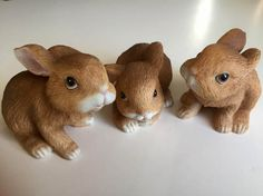 SALE Homco 1465 Rabbit Figurines Set of 3 by TreasureofMemories