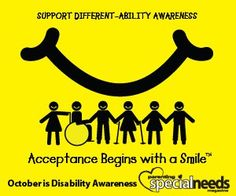 October is disability awareness month    https://www.facebook.com/pages/Autism-Alliance-of-Michigan/122197201137959