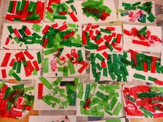 Composició lliure amb paper de seda i vernís(colors de sant jordi)