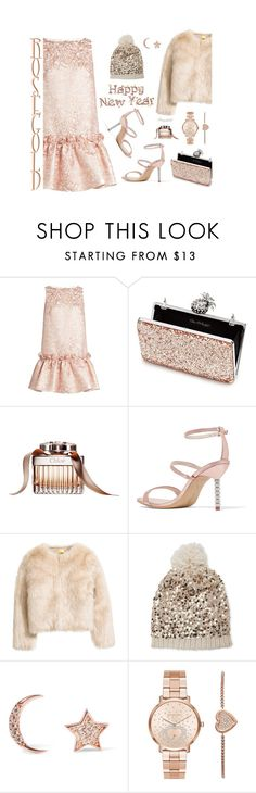 """""""So Pretty: Rose Gold Jewelry"""" by ragnh-mjos ❤ liked on Polyvore featuring Osman, Miss Selfridge, Sophia Webster, Betsey Johnson, Aamaya by Priyanka, Michael Kors, contest, outfit and rosegold"""